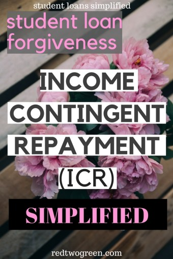 income contingent repayment