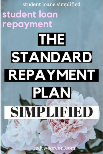 the standard student loan repayment plan