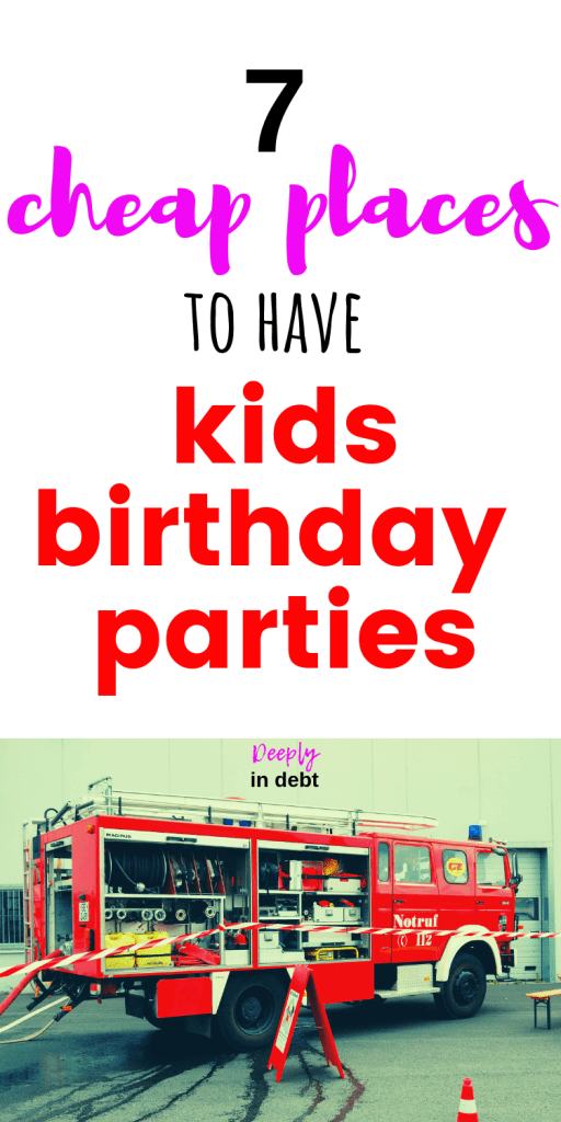 cheap places for kids birthday parties