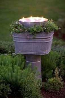 Whimsy In Your Yard & Garden, Part Two, outdoor space, decorating, yard, outdoor room, outdoor night lighting, pathway lites, candles in garden, party lights