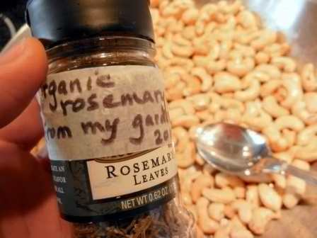 Superb Rosemary Roasted Cashews & Candid Camera, rosemary herb, Brazil nuts, pecans, walnuts, DF, raw nuts, paleo, mixed nuts, trimming your rosemary plant, freezing nuts and seeds, storing herbs, leaves, recipe, hostess gift, family eating together, food, Mother, roasting, recipe, snacks, treats, savory, homemaking, DIY, homemade, eating, food, garden, grow your own