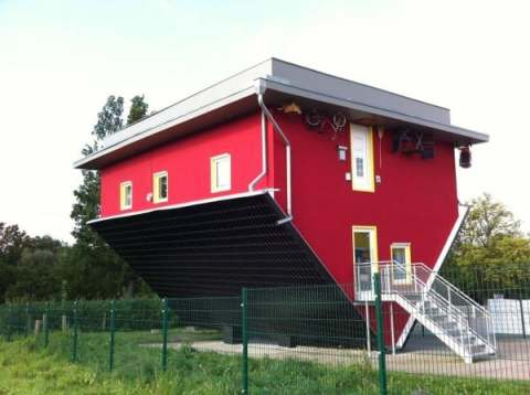 confusion, calling bad good, upside down house