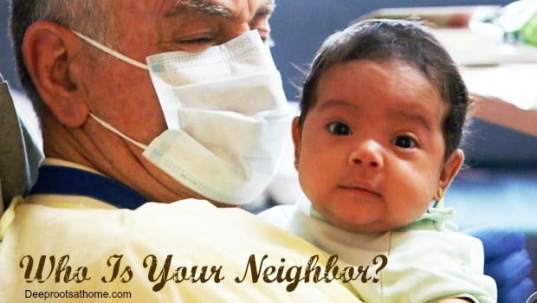 Who Is Your Neighbor?, Jim O'Connor, TLC volunteer for babies, Children's Hospital, Los Angeles, love your neighbor, cuddling babies, parable of Good Samaritan, volunteer, sick babies, teacher, blood drive, giving blood, type O negative, calculus teacher, neglected, abused babies, servant heart, humility, the least of these, mission field, gospel of Jesus, baby cuddler, rocks babies, man holding baby