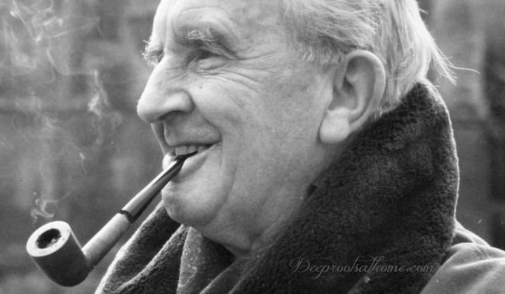 """J.R.R. Tolkien: More Than Meets the Eye, stories, quotes, storyteller, Christian theology, trilogy, creation, incarnation, salvation, The Fellowship of the Ring, The Two Towers, The Return of the King, creative license, """"On Fairy-stories"""", Jon Bloom, desiringGod.com, miraculous grace, mercy, happy ending, myth, Middle-earth, Bilbo, Louis markos, On Shoulders of Hobbits, evangelium, the gospel, eucatastrophe, joy, Edith Bratt, C.S. Lewis, fantasy, parenting, homeschool, reaching, children's books, read-aloud books, Chronicles of Narnia, The Hobbit or There and Back Again, philology, Mabel Tolkien, The Lord of the Rings, LOTR, Dyson, conversion story, birth of Christ, reality, fairy tales, languages, Exeter, Oxford, WWI,"""