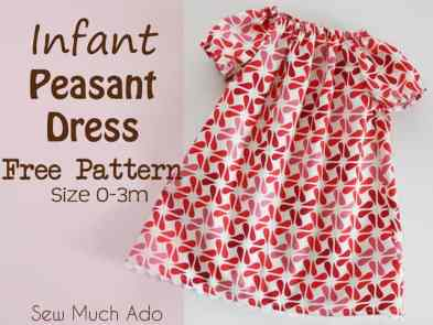 Lillian Weber's Basic Peasant Dress Pattern, pretty dresses, DIY, handmade, homemade, tutorial, toddler, 2T, 3T, 4T, sizes, infant, short sleeves, simple, easy, sewing pattern, directions, Free,