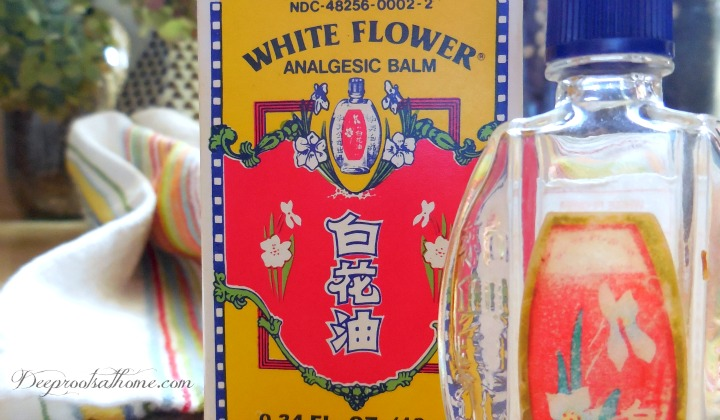 Copycat White Flower Oil: Deep Muscle Rub Recipe, Tiger Balm, safe ingredients, achy muscles, workout, therapeutic massage, Chinese medical practitioners, cooling, formula, ingredients, Mr. Gan Geock Eng, Singaporean merchant, combination, muscle tension, headaches, neck, Aches, pain, minor sprain, strain, overworked muscles, sore area, reduce pain, muscular discomfort, carrier oil, jojoba, coconut oil, soothing, massage balm, deep tissue massage, relaxation, nausea, behind the ears, calm, symptoms, Ginger, traveling, home remedy, discomfort, sinus pain, congestion, natural alternative, decongestants, personal inhaler, head, sinus, chest congestion, vapors, breathe deeply, inhale, quick relief, Thieves blend, infection, get into eyes, babies, toddlers, young children, old box, ratios, Wintergreen, Eucalyptus, Peppermint, Camphor, Lavender, carrier oil, coconut oil, olive, jojoba, original, copycat, DIY, carrier, crystals, bottle, synergy, blend, Menthol, Icy Hot, safe, inexpensive oils, side-effects, pregnant women, essential oils, Mountain Rose Herbs, antiviral, antibacterial, homemade recipe