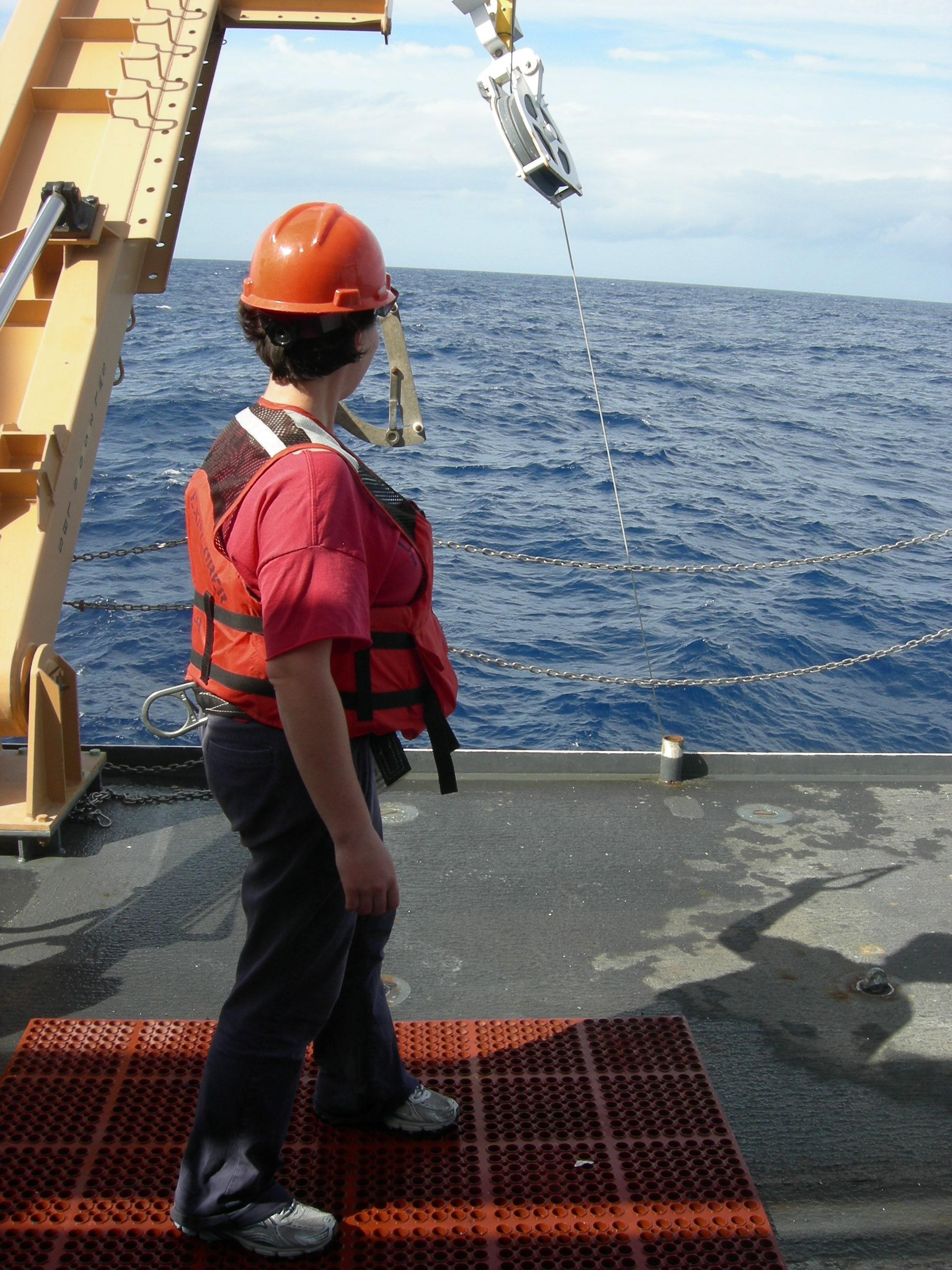 Miriam Measuring The Wire Angle Deep Sea News