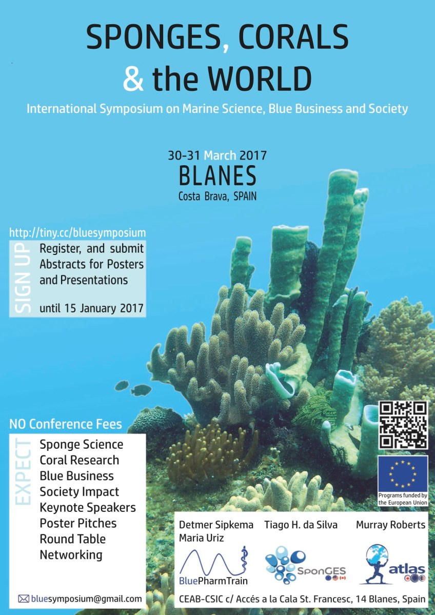 SponGES co-organises Blue Symposium, Blanes 30-31 March 2017