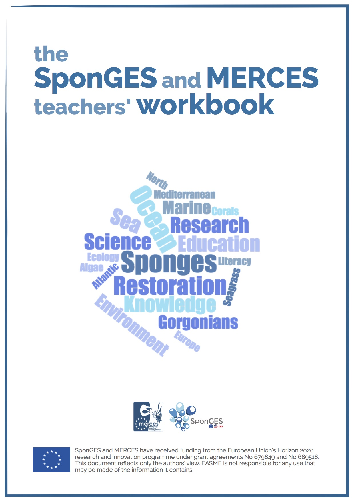 Cover of the SponGES and MERCES teachers' workbook
