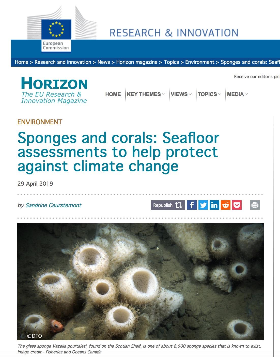 SponGES, ATLAS, Horizon Magazine