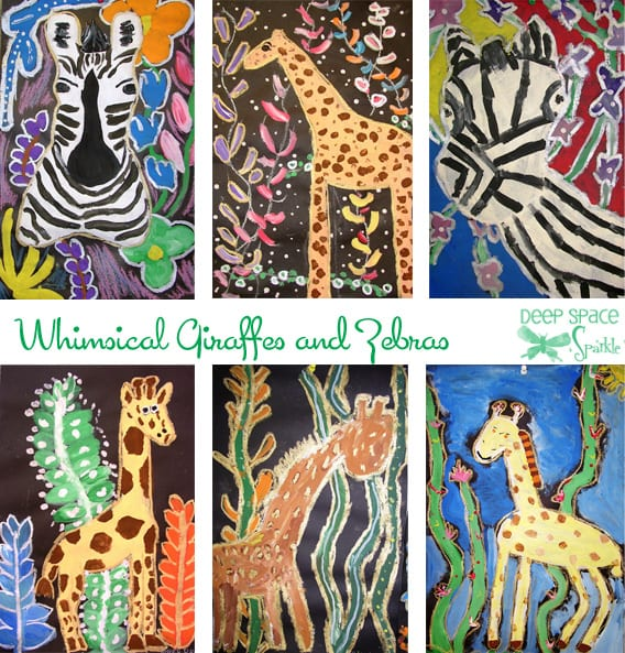 Whimsical Giraffes and Zebras Painting Lesson