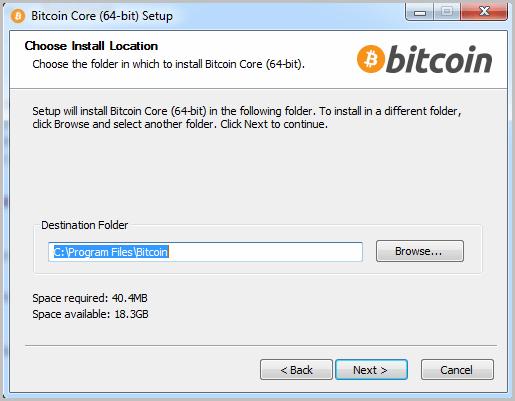 Bitcoin start installation 2