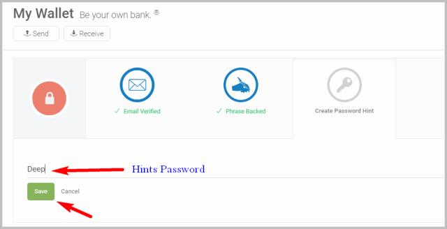 Creat password hint