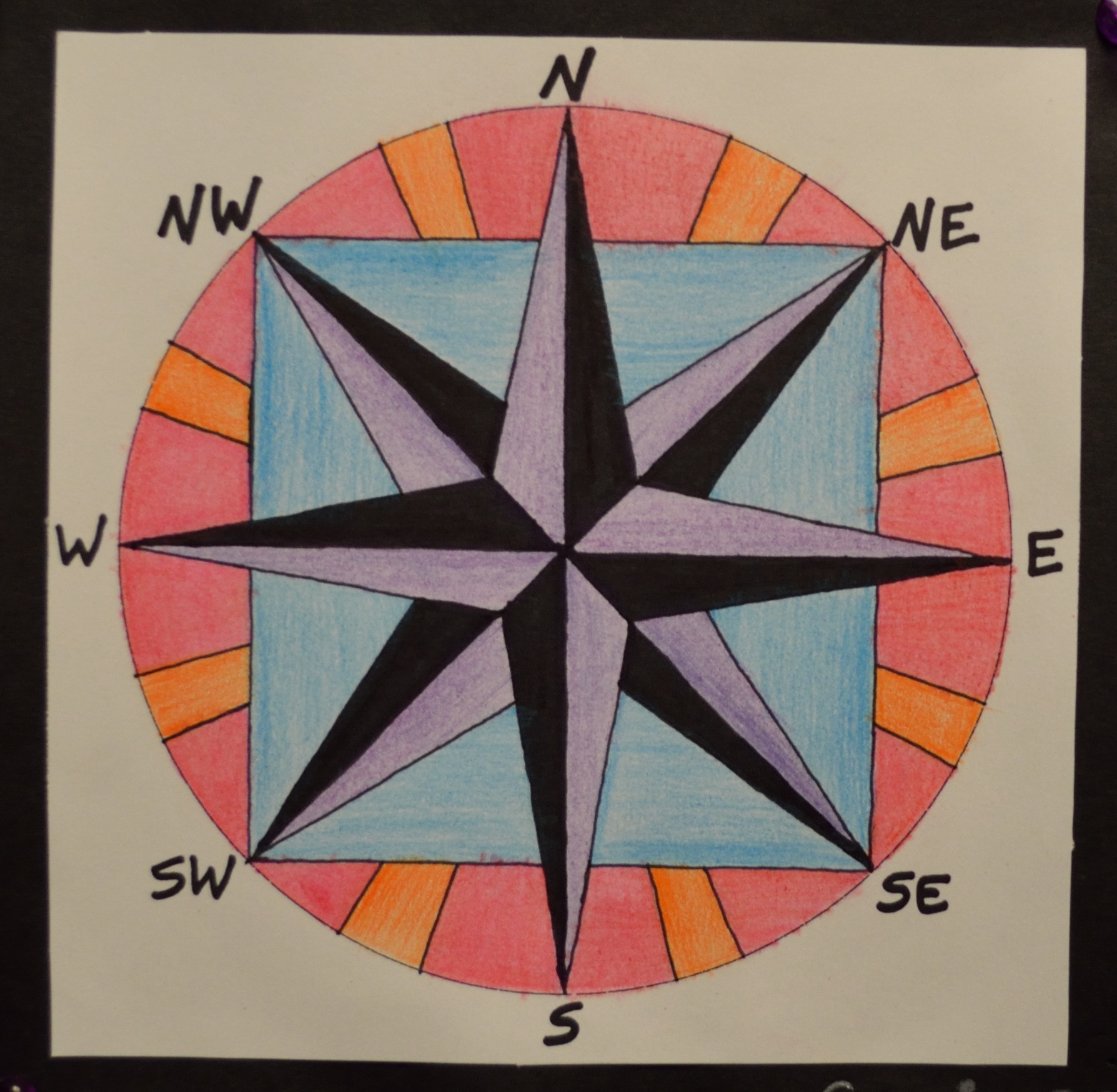 Compass Roses Expand Art Students Creativity
