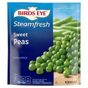 BIRD'S EYE STEAMFRESH SWEET PEAS, 10OZ