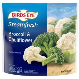BIRD'S EYE STEAMFRESH BROCCOLI/CAULIFLOWER, 10.8OZ