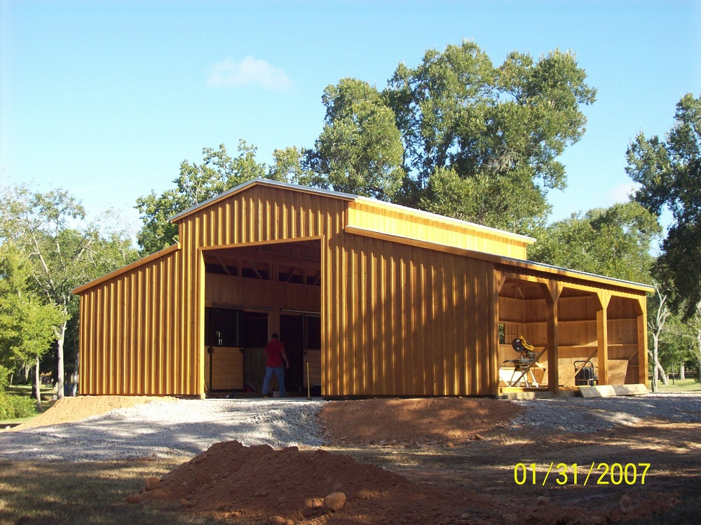 12 Wide Portable Shed Row Horse Barns For Sale Deer Creek Structures