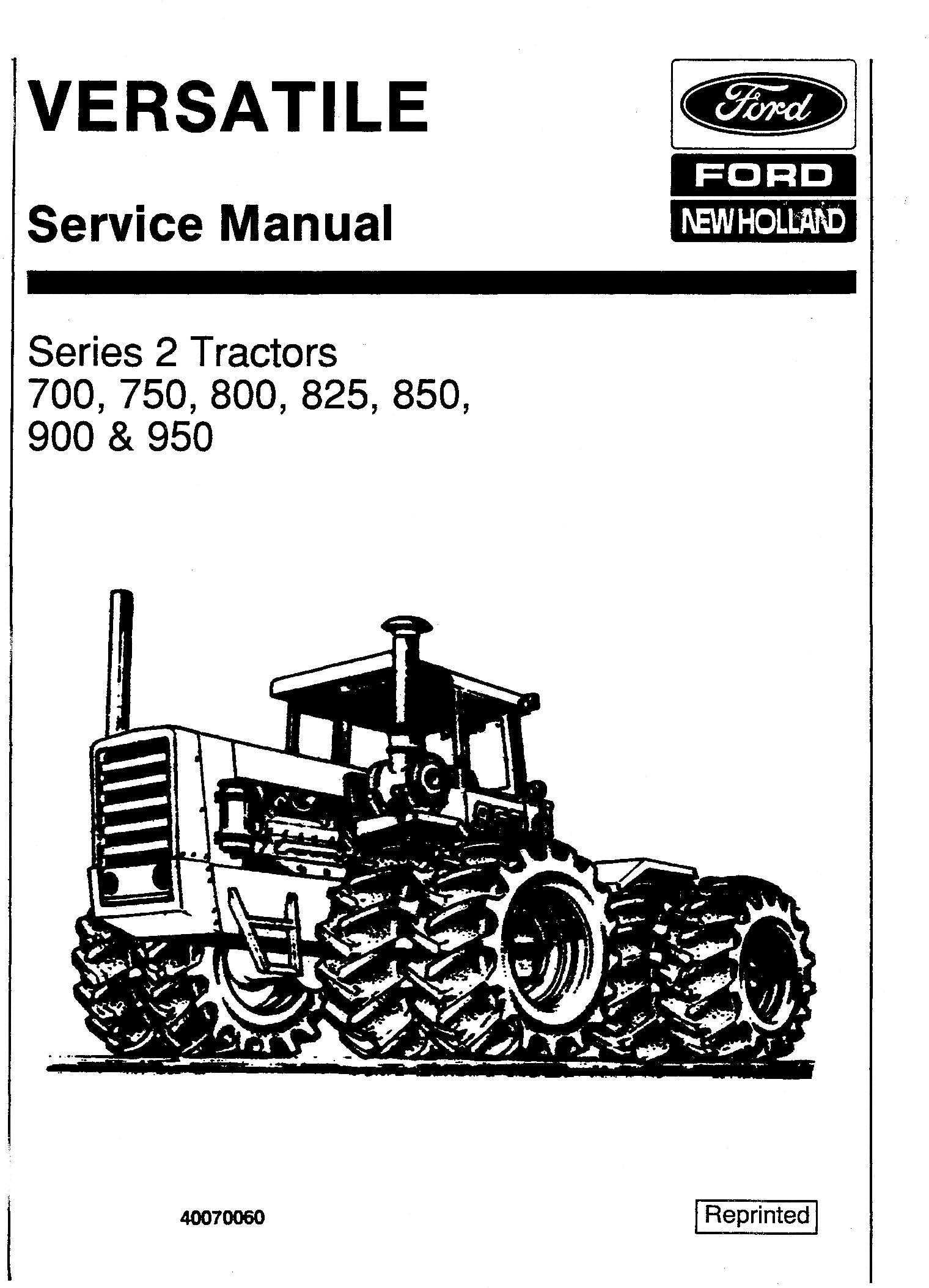 Ford Versatile 700 750 800 825 850 900 950 4wd