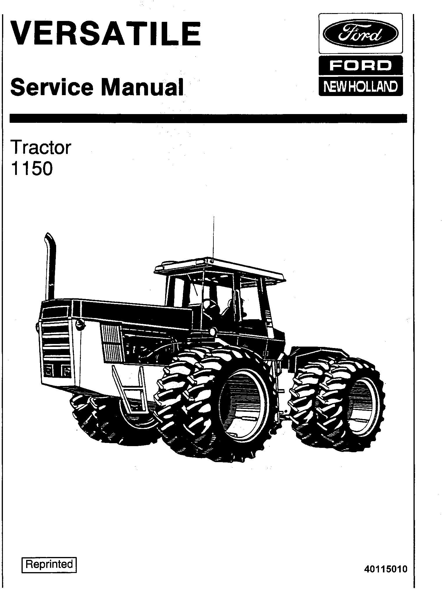 Ford 4wd Tractor Service Manual V Deere