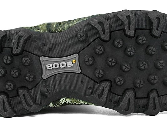 photo of the bottom of a bogs bowman waterproof hunting boot