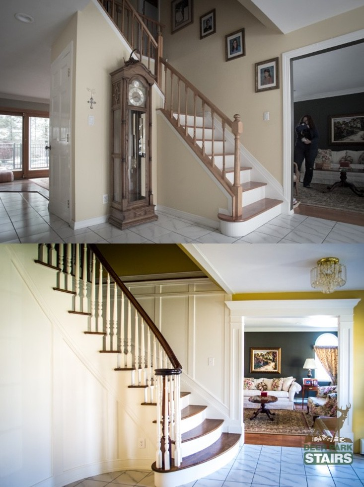 Staircase Renovation Before Amp After Deer Park Stairs
