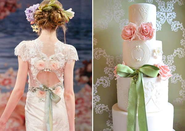 Claire Pettibone Beauty gown inspired cake by Homebaked Heaven