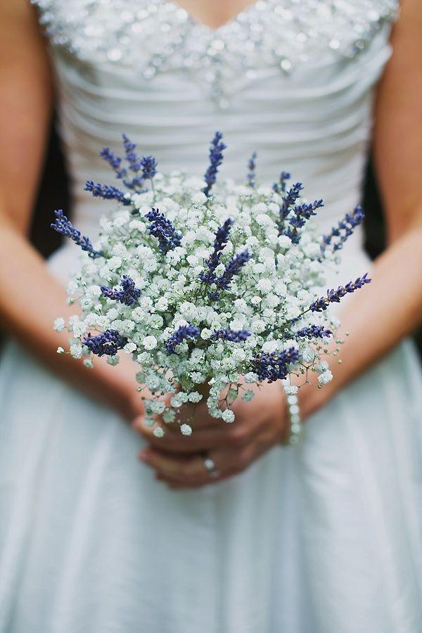 Wedding Gypsophila Lavender Bouquet
