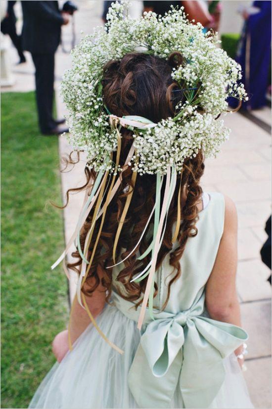 baby breath flower girl crown
