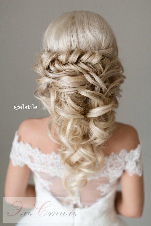 braided half up half down wedding hairstyles