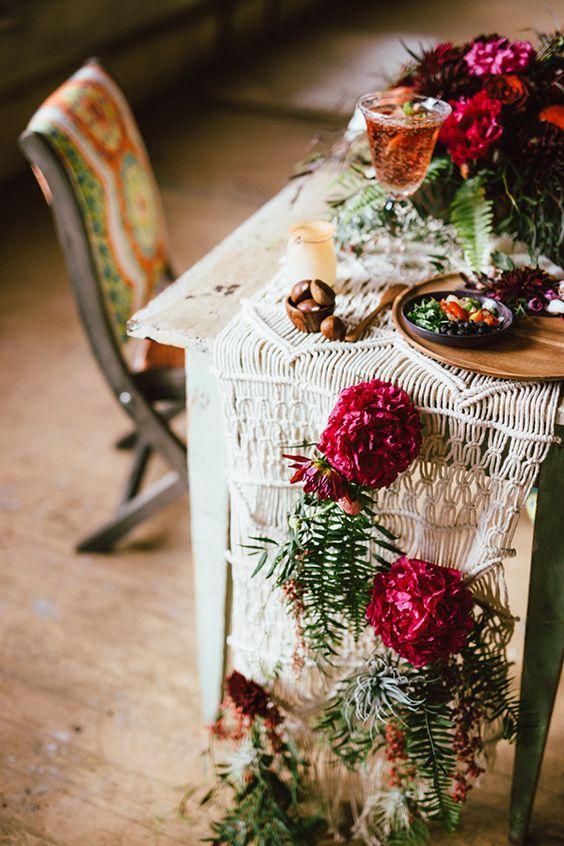 25 Bohemian Macrame Knotted Wedding Decor Ideas Deer Pearl Flowers