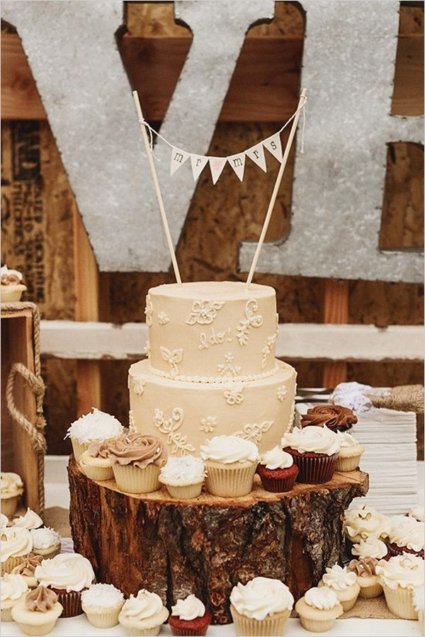 25 Amazing Rustic Wedding Cupcakes Amp Stands Deer Pearl Flowers