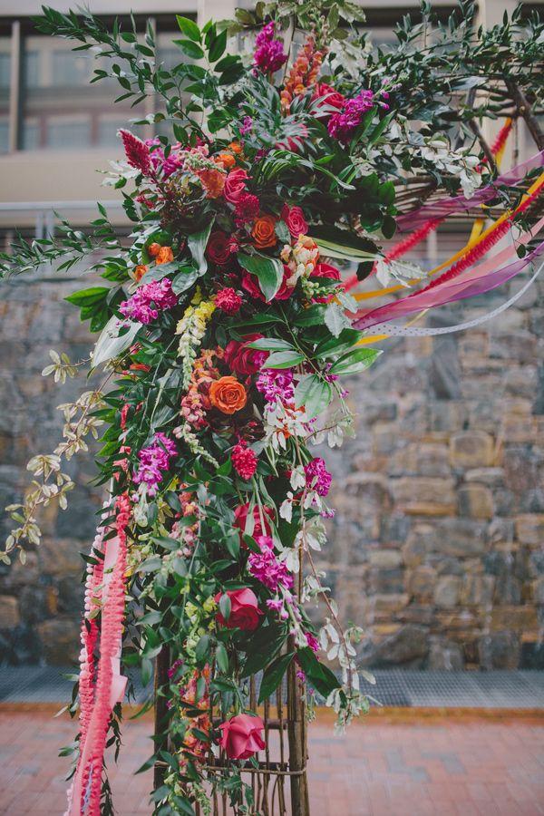 Fall Color Wedding Centerpieces