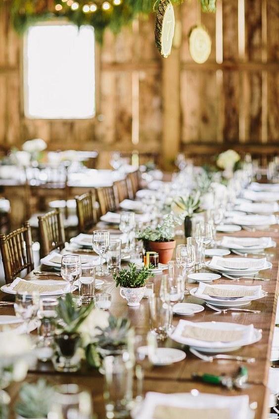 Fall Wedding Head Table Decorations