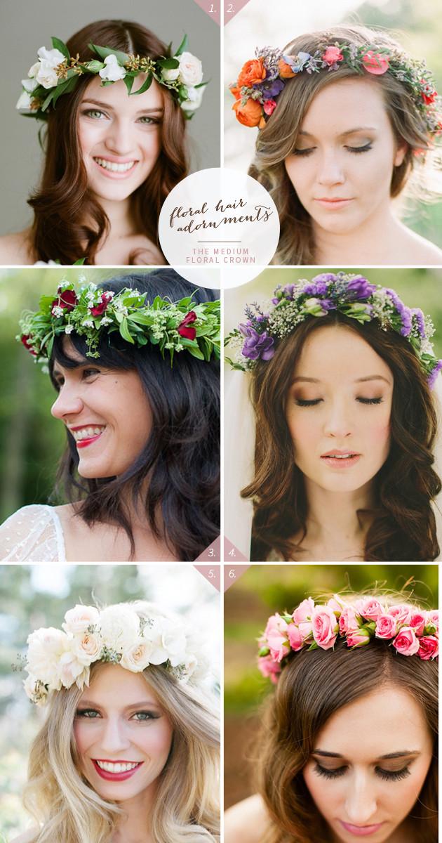 46 Romantic Wedding Hairstyles With Flower Crown DIY
