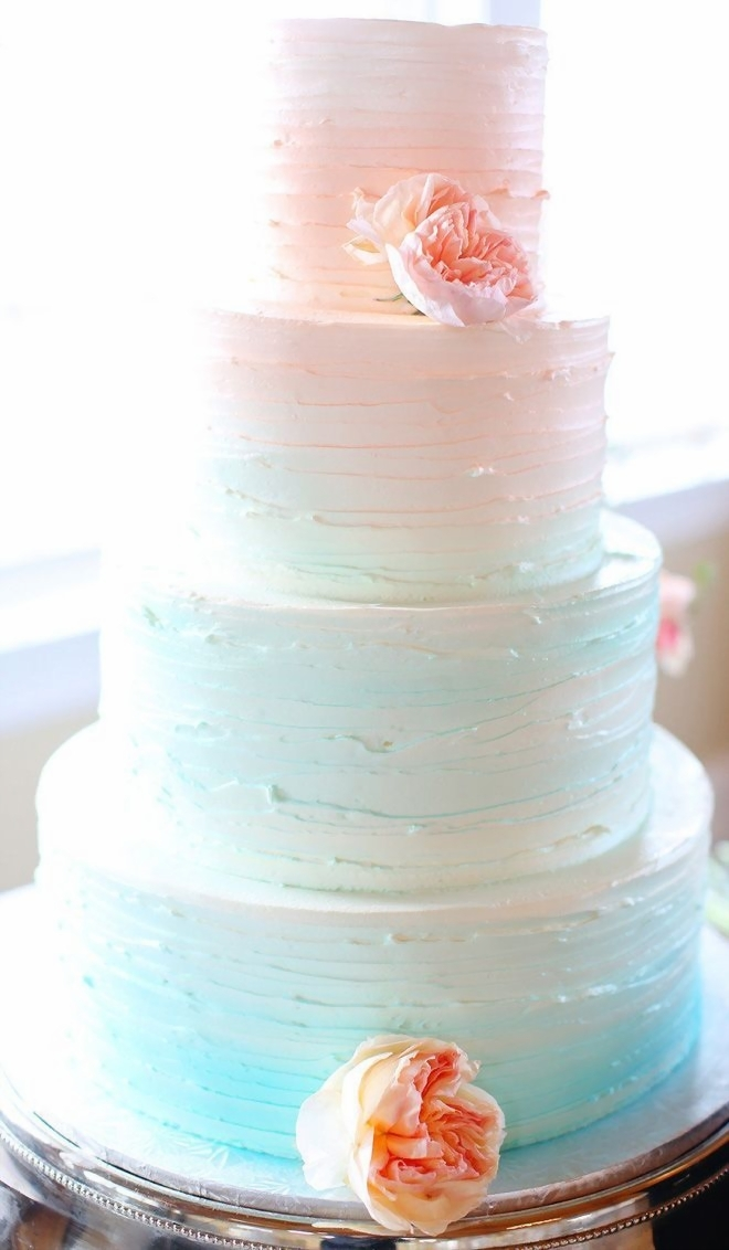 buttercream wedding cakes  raquo  25 Buttercream Wedding Cakes We d  Almost  Kill For  with Tutorial         Pasetl Ombre Buttercream Wedding Cake