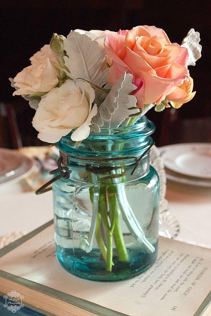 Something Blue 45 Rustic Blue Mason Jars Wedding Ideas