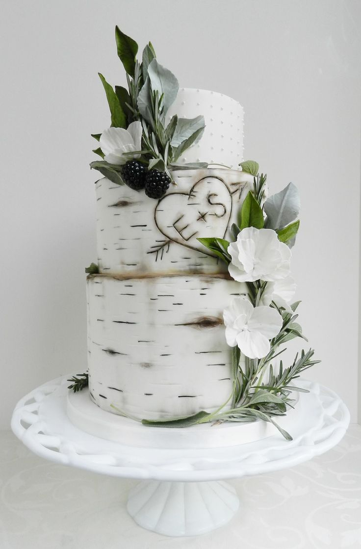 And Flowers Black Cakes Wedding White