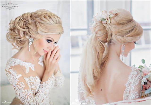 stylish bridal wedding hairstyles for long hair
