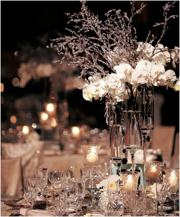 Tall Winter Wedding Centerpiece Ideas Event Table Centrepiece Decorations