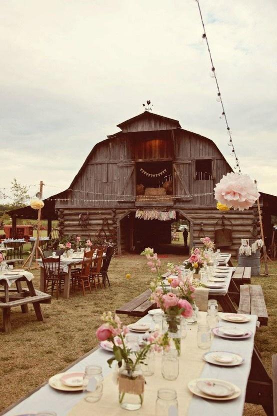 35 Totally Ingenious Rustic Outdoor Barn Wedding Ideas