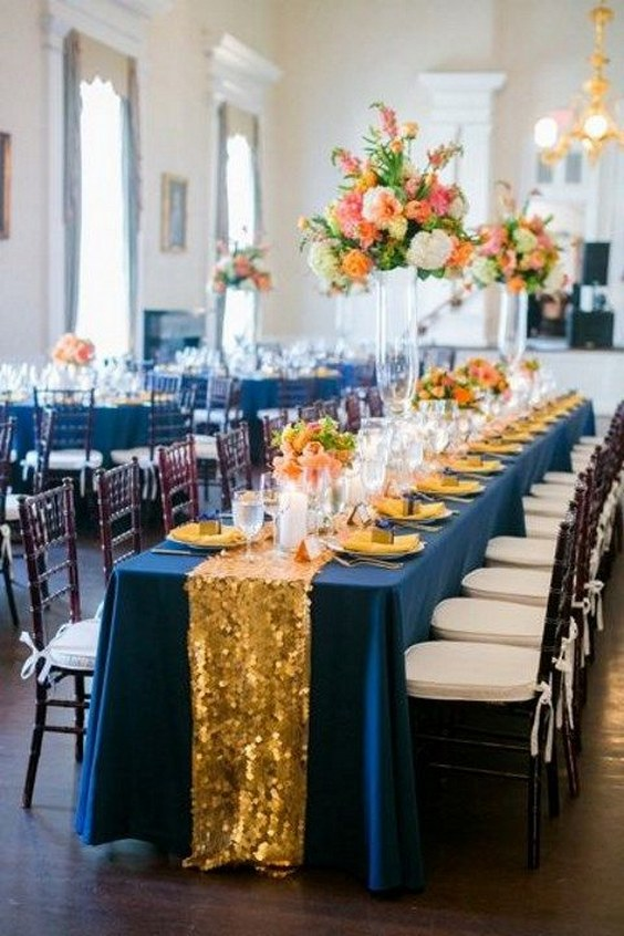 30 Navy Blue And Gold Wedding Color Ideas Deer Pearl
