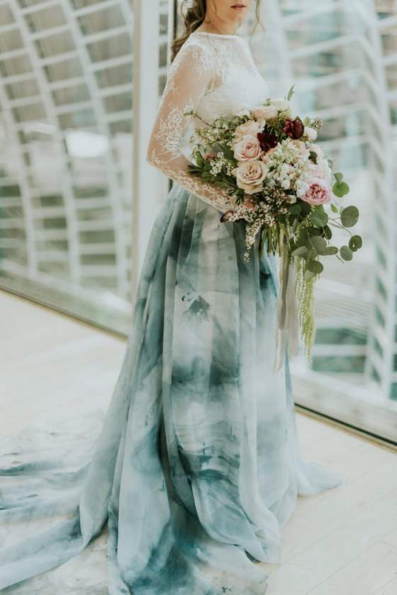 Etsy Finds Dip Dyed Ombre Wedding Dresses Deer Pearl
