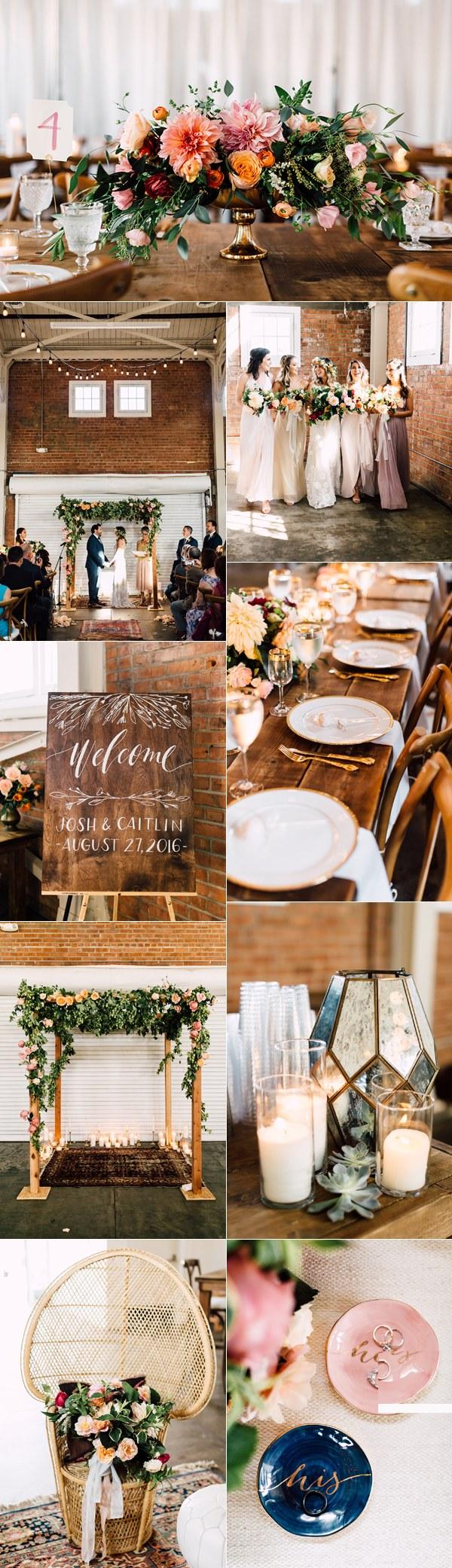 Rustic industrial wedding theme ideas