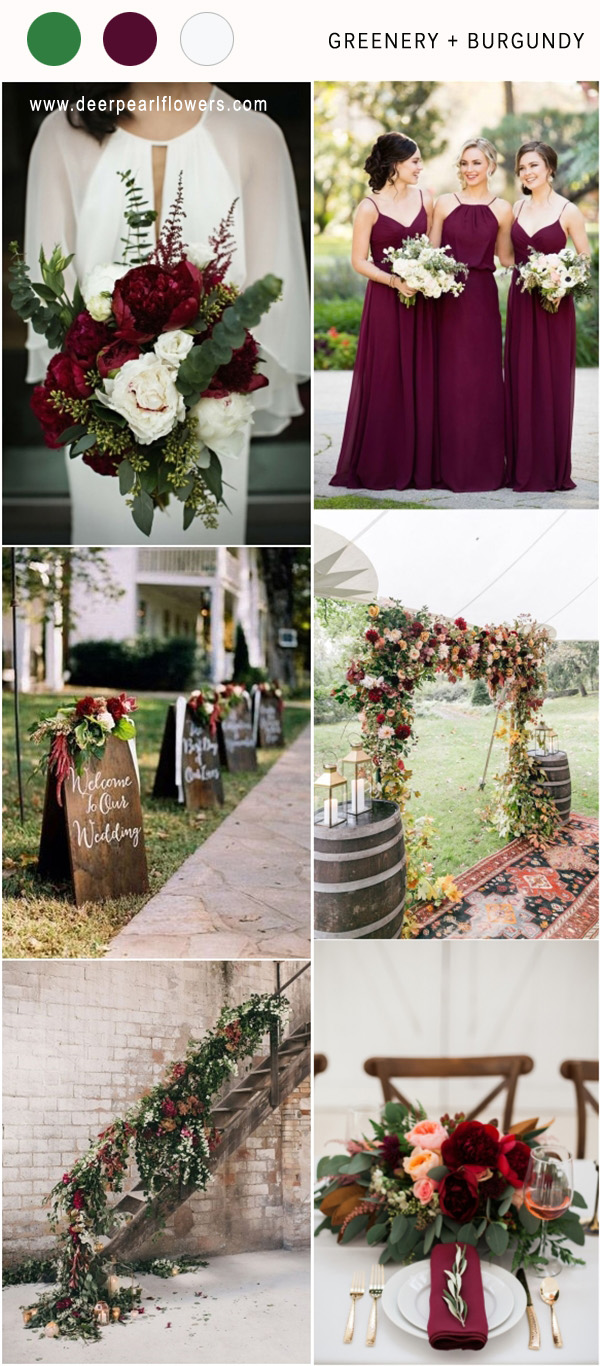 Top 8 Greenery Wedding Color Palette Ideas For 2018 Deer