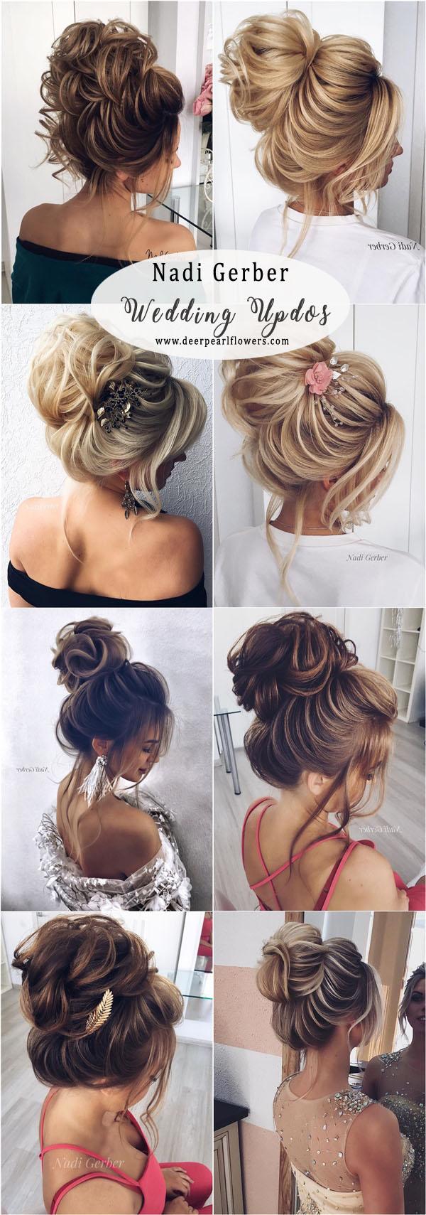 top 20 high bun wedding updo hairstyles | deer pearl flowers
