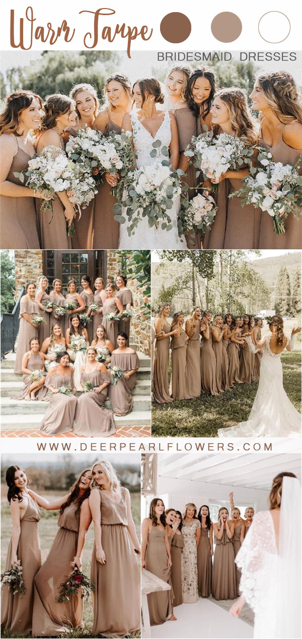 rustic bohemian fall taupe wedding color ideas