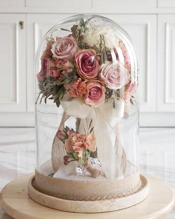 blush pink preserved wedding bouquets16