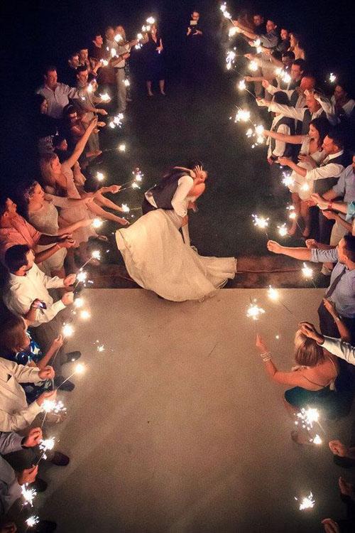 sparkle wedding photos for evening wedding