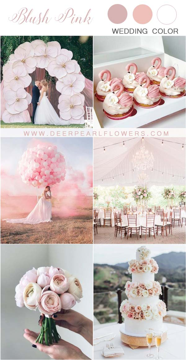 blush pink and ivory wedding color ideas