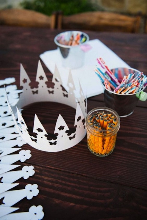 craft kid table idea for a wedding